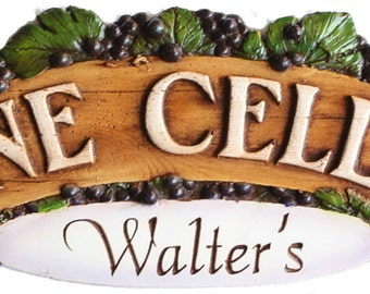 Personalized Wine Cellar Sign and Door Topper