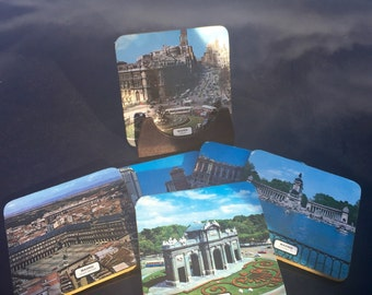 Madrid Souvenir Coasters: set of 6 with holder