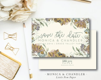 Monica and Chandler Save the Dates
