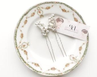 Wedding Hair Accessories, Bridal Hair Pins, Bridesmaid Gift, Maid Of Honour, The Louisa Rhinestone Hair Pins, Set of 2 #156