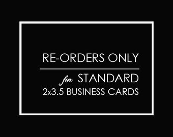 card re-orders only, FREE UPS ground shipping