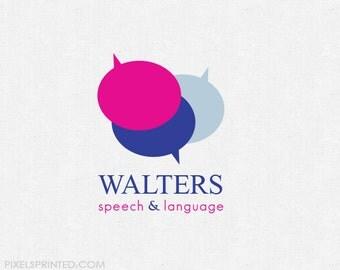 pre made logo for SLP (speech language pathologists)