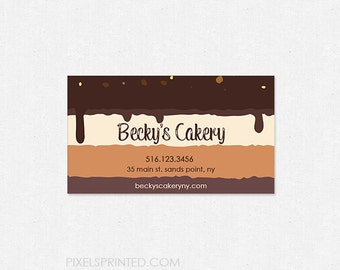 custom bakery business cards - thick, color both sides - FREE UPS ground shipping