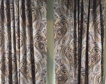 Curtain Panels In Multi Colored Earth Tone Home By