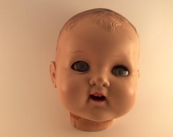 Creepy Doll Head Evil Doll Head Halloween Prop Horror Doll Cloudy Eyed Head