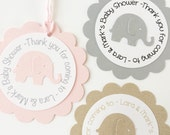 Elephant Favor Tags - Baby Shower Thanks - Personalized