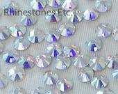 Crystal AB 10ss Swarovski Elements Rhinestones 2058 Flat Back 1 gross (144 pieces)