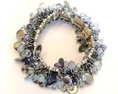 Cha Cha Cha Bracelet, Blue, Fashion, Vintage Jewelry, CHRISTMAS SALE FREE Shipping