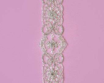 Crystal dress trim embellishment