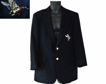 Men Sport Jacket Men Sport Coat 44 Men Sportcoat Men Wool Blazer Navy Blue Blazer Mens Suit Jacket Mallard Duck Hunting Jacket Mens Clothes