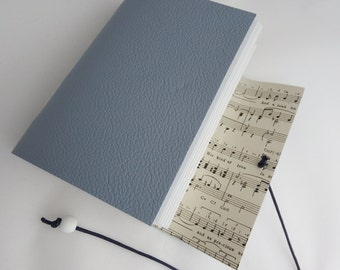 Music Journal. Musician Gift. Sheet Music. Leather Journal. Music Sketchbook. Music Notebook A6