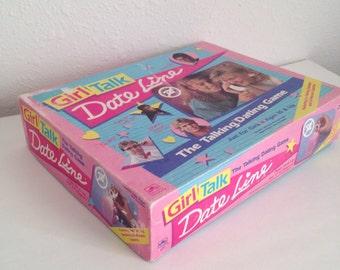 Vintage Game, Girl Talk Date Line, Complete Vintage Board Game, 1980s Teen Game, Girl Talk Game