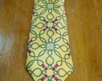 Vintage Authentic Hermes Paris Silk Tie