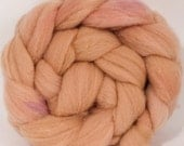 Hand dyed British Southdown  top - Madder- 4.4 oz.