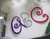 Die Cut Glitter Card Alphabet! Craft Embellishments!