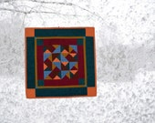 Quilted Wall Hanging, Mini Quilt, Wall Art, Fiber Art, Wall Hanging