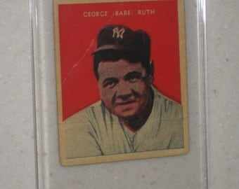 new just in 1932 united states caramel company babe ruth #32 awesome vg card only 1 available in a screwdown case
