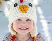Cyber & Christmas Sale Chicken Hat, PDF Crochet Pattern, photo prop, winter hat, haloween hat, chicken costume, chicken costume, crochet bab