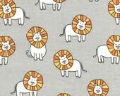 Dandy Lions on Cotton Flannel (Cloud) - Baby Zoo Flannel - Michael Miller Fabrics - 1 Yard