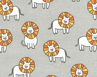 Dandy Lions on Cotton Flannel (Cloud) - Baby Zoo Flannel - Michael Miller Fabrics - 1 Yard