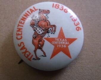 1936 Texas Centennial 1836-1936 Pin/Pinback