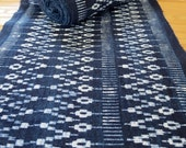 ON SALE Hmong cotton-Indigo Batik fabric, textiles and fabrics- From Thailand-Table runner,
