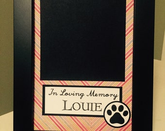 In Loving Memory --- Custom Order Dog Frame -- Include the Name and Picture of your Dog