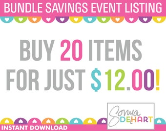 Clipart Sale Bundles and Digital Paper Buy ANY 20 Items Sale Royalty Free Clip Art - Instant Digital Download