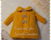 "Reserved for Sarah Cowden. Handmade coat for blythe. ""The yellow pumpkin Coat"" by SaritaSopita"