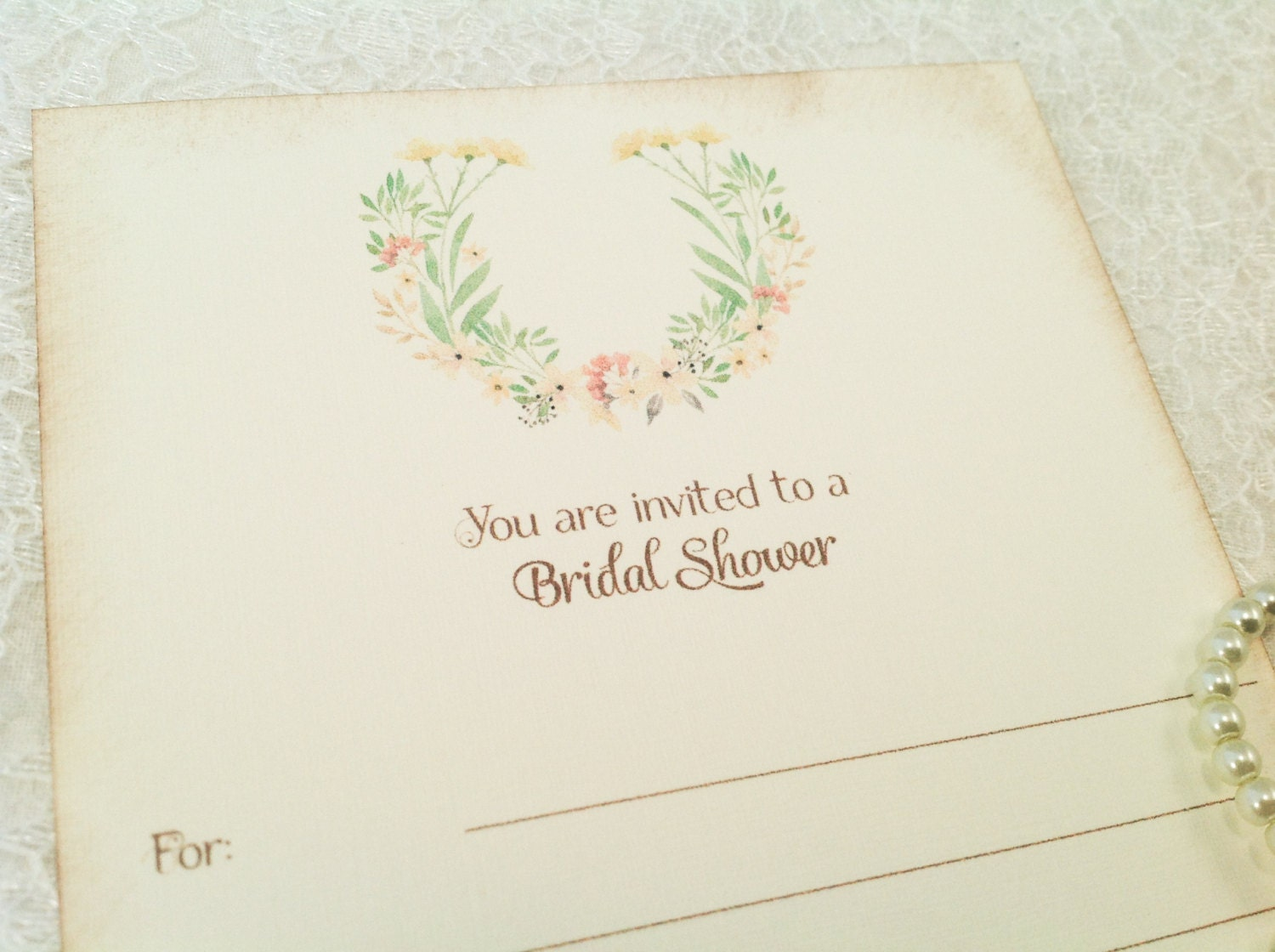 Fill in blank invitations bridal shower invites floral shabby for Bridal shower fill in invitations
