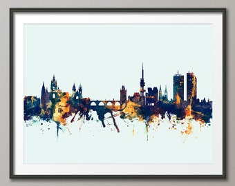 Prague Skyline, Prague (Praha) Czech Republic  Cityscape Art Print (2380)