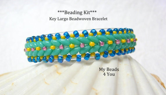 beadwork kit beaded bracelet pattern beadweaving tutorial