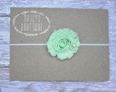 45% Off Mint Green Shabby Flower Headband/ Newborn Headband/ Baby Headband/ Flower Girl/ Wedding/ Photo Prop