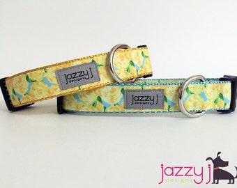 Yellow Roses Sweet Summer Dog Collar