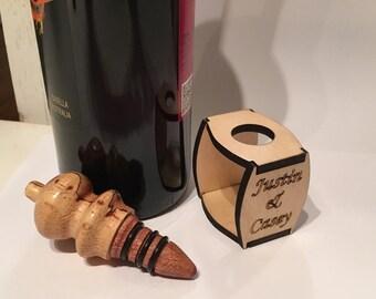 Custom wine stipper