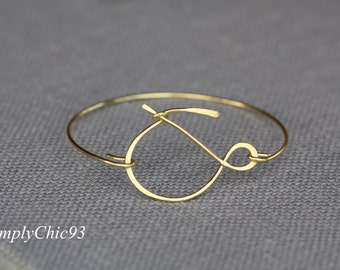 Infinity, Love Bangle, Gold , Bridal Gift, Bridesmaids Gift, & Bracelet, And Bracelet, Forever, Wedding Jewelry, Initial Bracelet,