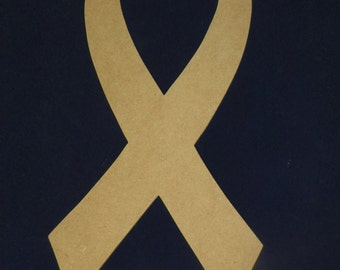 Unfinished Wooden Cancer Awareness Ribbon...