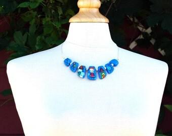 Violet  Lampwork Necklace