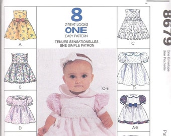 McCall's Pattern 8679 Infant Dress Pinafore Headband & Panties
