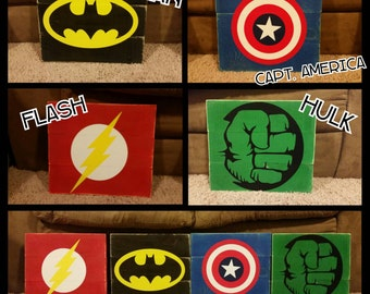Superhero Pallet Sign