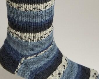 Sock Yarn, Viking Of Norway Mini Raggen, Wool Self Striping Sock Yarn, Winter's Night