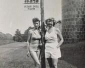 Original Vintage Photograph Mother & Me Modeling