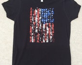 American Flag T-Shirt • Distressed • Vintage