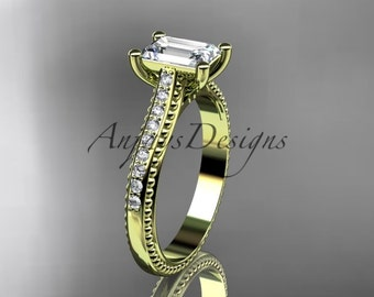 14kt yellow gold diamond unique engagement ring, wedding ring ADER113