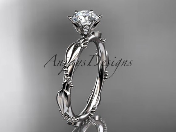 platinum diamond vine and leaf wedding ring,engagement ring ADLR178