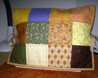 Patchwork Quilted Sewing Machine Dust Cover, Embroidery Machine Cover Protector