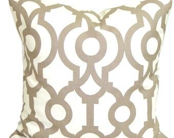 Tan PILLOW Sale,14x14 inch.Pillow Covers.Decorative Pillows.Housewares, Ecru Geometric Neutral.Cushion.Pillow.Taupe.Cushion.Tan Pillow.cm
