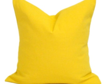 Solid Yellow Pillow, Yellow Pillow Cover, Decorative Pillow,Throw Pillow, Accent Pillow,18x18, 16x16, 22x22, 24x24, 26x26 and more-ALL SIZES