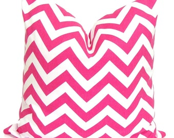Pink Pillow.Pink Cushion Cover.Pink Pillow Cover. Pink Chevron Pillow, Pink Pillows, 18x18, 16x16, 22x22, 26x26 and More-Pink Euro. Cushion