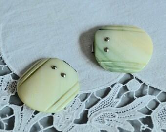 "Shell Belt Buckle Green Belt Buckle Belt Finding Green Abalone Shell Buckle Art Deco Buckle 1/2"" Green Belt Buckle"